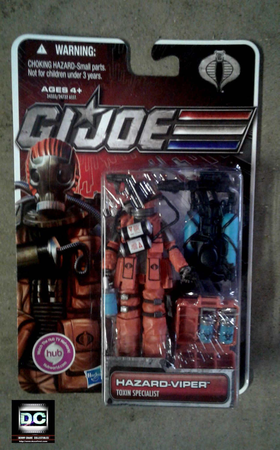 "GI Joe 30th Hazard Viper Toxin Specialist Pursuit of Cobra Army Builder (MOC) 3.75"" Hasbro 2011"