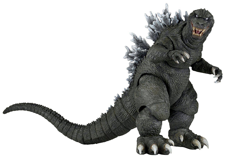 NECA Classic Godzilla 2001 GMK Movie Version 12-inch Head to Tail Kaiju, 2016 Reel Toys 18cm Figure