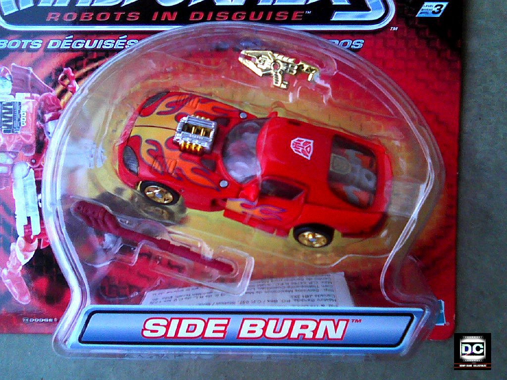Transformers RID (2002): Autobot Side Burn Red Dodge Viper GTS, Hasbro 80647 Car Robots in Disguise