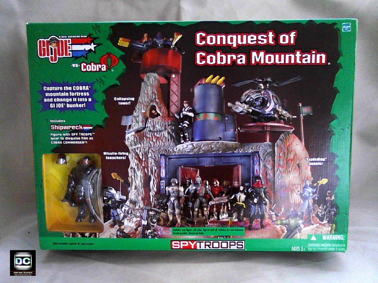 2003 Hasbro GI Joe 55446: Conquest of Cobra Mountain Playset SpyTroops Action Figure Set Sealed MIB