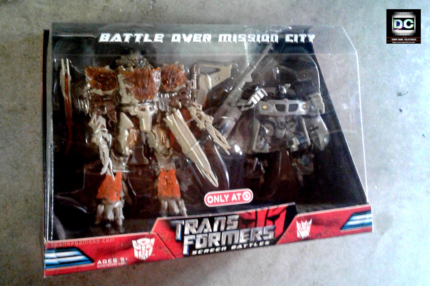 """Transformers 2007 Movie Series """"Battle Over Mission City"""" Screen Battles, Target (2008, Hasbro)"""