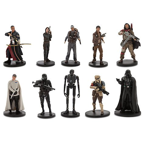 Disney Store Deluxe PVC 10 Figurine Play Set: Star Wars Rogue One 2016
