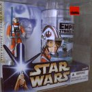 Star Wars ESB Burger King Coca Cola Pint Glass + Luke Skywalker Figure Set 32149 Vtg Style Saga 2004