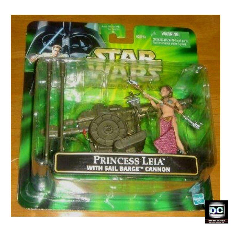 Star Wars 84653: Princess Leia (Slave) Jabba's Prisoner + Sail Barge (Death Star) Cannon 2001 PotJ