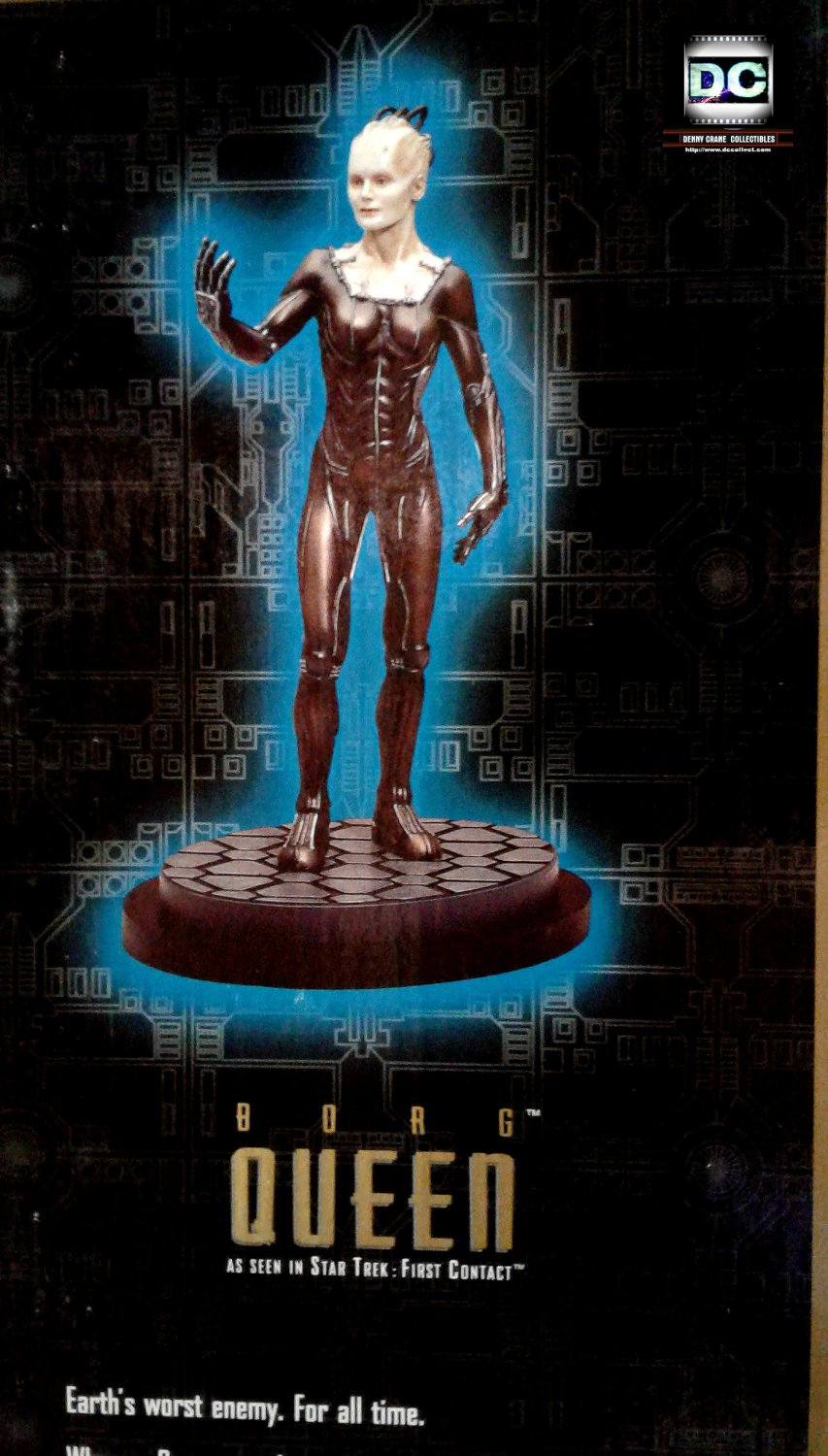"""Borg Queen (First Contact) Cold Cast 1:6 Statue 12"""" Figure Star Trek 1997 Playmates #65021"""
