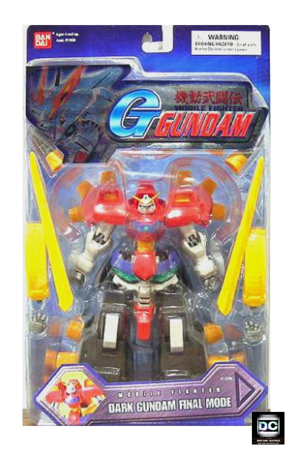 "G-Gundam Dark Gundam MSIA Mobile Fighter Transforming Bandai 4.5"" DX Action Figure #11339"