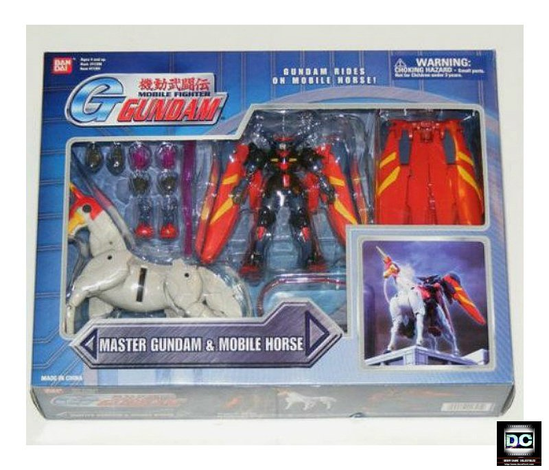 "MSIA Master Gundam & Mobile Horse Fuunsaiki Deluxe 4.5"" Action Figure Set Bandai 11391"