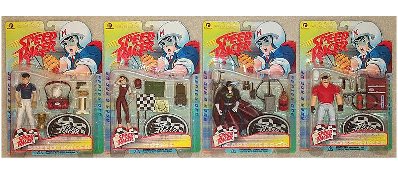"Speed Racer Series 1 Complete Set 1999 ReSaurus Toys Action Figures 5"" MOC"