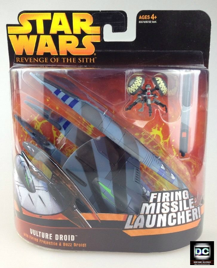 Vulture Buzz Droid RotS Star Wars Transforming Vehicle 2005 Clone Saga Action Fleet