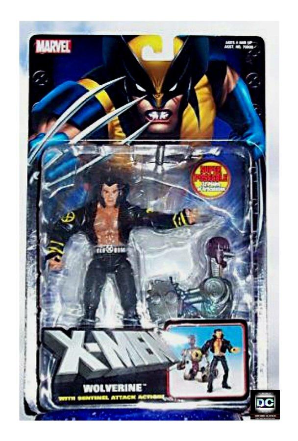 X-Men Classics: Wolverine (Logan) in Jacket � Marvel Legends Sentinel Attack 2004 Toybiz MOC