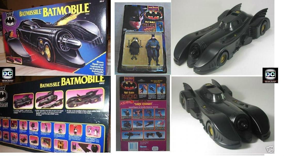 Batman ('89 Batmobile) Kenner Dark Knight 1991-92 Batmissile + figure set Burton/Keaton