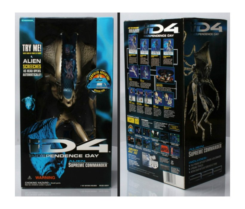 '96 iD4 Alien 1:4 Scale Figure Trendmasters Independence Day Movie Series � Will Smith