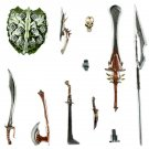 "Mythic Legion Dark Forces Weapons Pack AoD Four Horsemen Fantasy 1:12 Kickstarter 6"" (MOTU/D&D/LOTR)"
