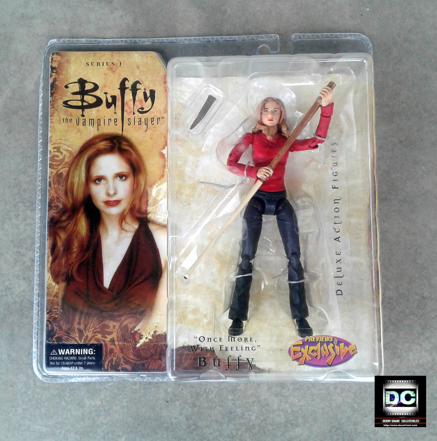 """BTVS Deluxe Buffy (OMWF) 6in Figure Sarah Michelle Gellar 2005 Diamond """"Once More"""" PX Variant"""