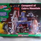 GI Joe Conquest of Cobra Command HQ Playset Hasbro ARAH SpyTroops 2003 Mountain Headquarters bonus