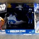 Star+Wars Clone Wars Mandalorian Warrior & Speeder Hasbro 3.75 in Vehicle Set TCW [SOTDS] 25578 MISB