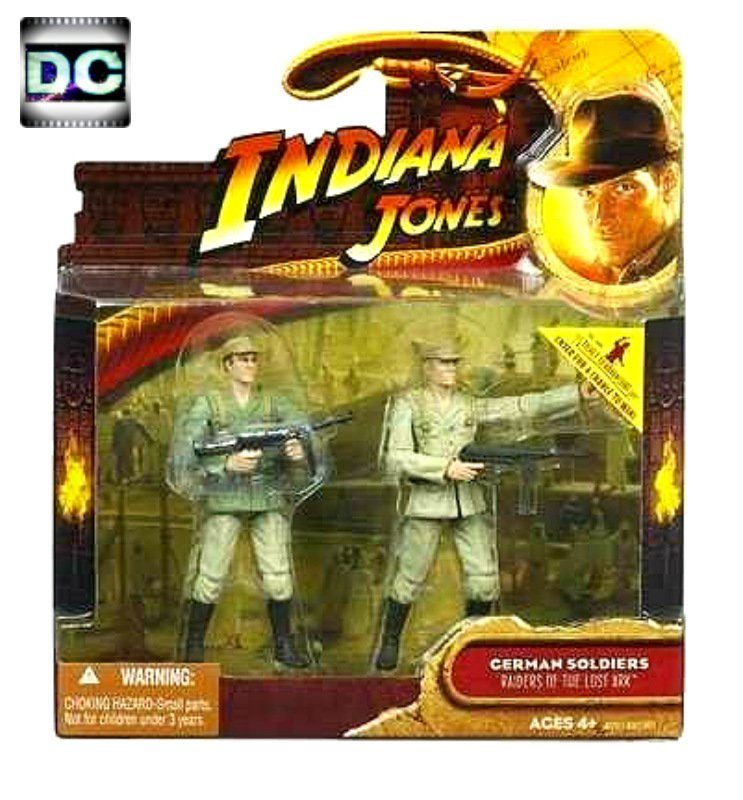 "Indiana Jones German Soldiers Deluxe 2-Pk Figure Set 2008 Hasbro 3.75"" WWII 1:18 Raiders RotLA"