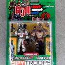 Gi Joe SpyTroops 56910 Desert Cobra Claws, Sand Viper + Comic 2-Pack Hasbro 3.75 ARAH Vintage 2003