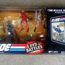 Gi Joe 2008 DVD Battle Set 4 Pack MASS Device w Snake Eyes, Ranger, Cobra Trooper & Baroness
