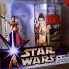 Leia Slave Outfit/ Cup Coca-Cola BK Vintage Drink Glass Sail Barge 2004 Hasbro Star Wars Saga Target