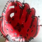 """Franklin Field Master 9.5"""" Leather Laced Youth Baseball & Softball Glove, RHT, Red 4609"""