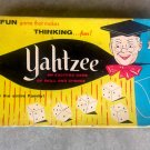 VTG Yahtzee Dice Board Game 1956 Lowe #950 Original Antique 1950-60's