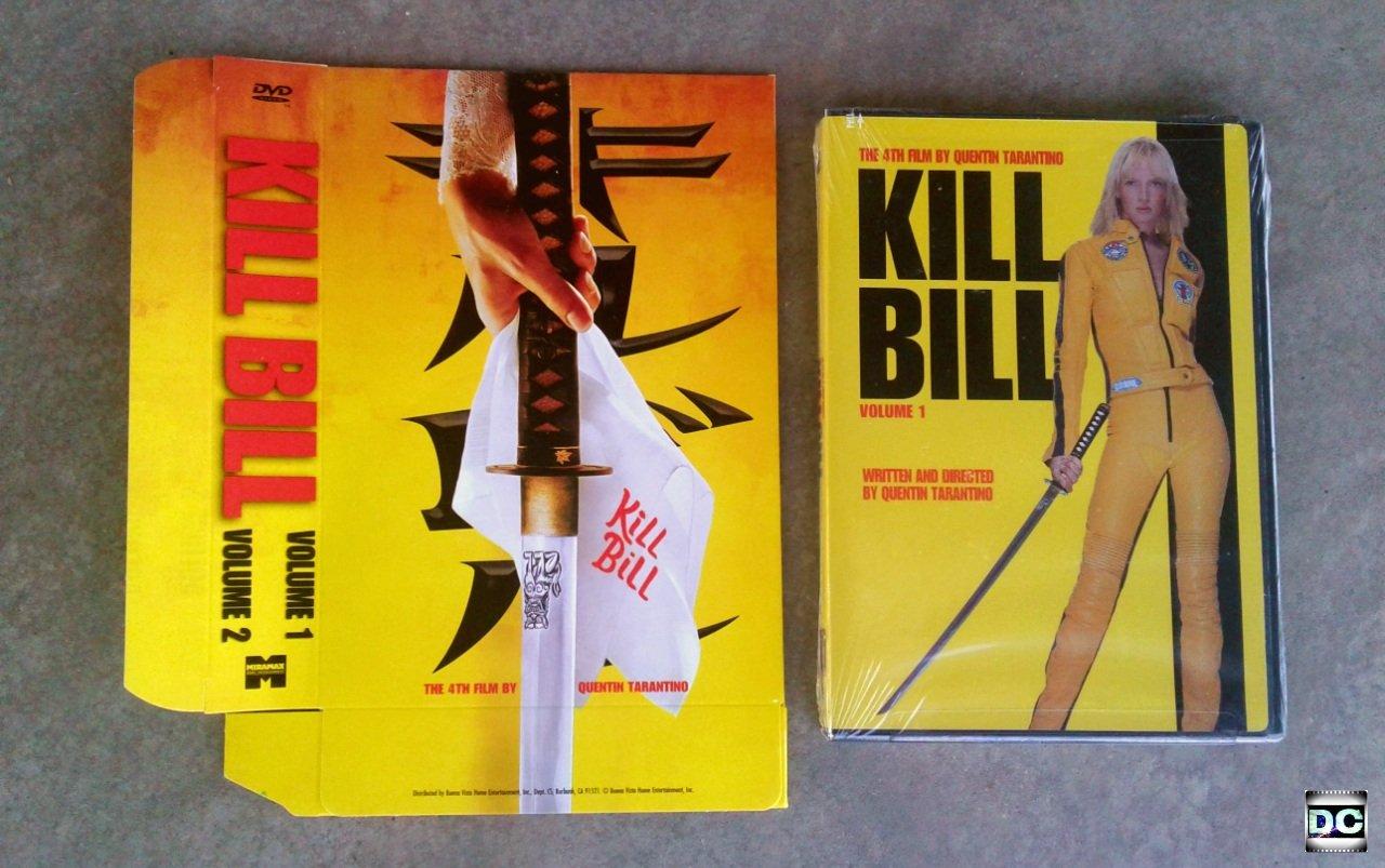 Kill+Bill Volume 1 DVD Promo Slipcover Jacket Tarantino Vol. 1 & 2 Exclusive Book Case Black Mamba