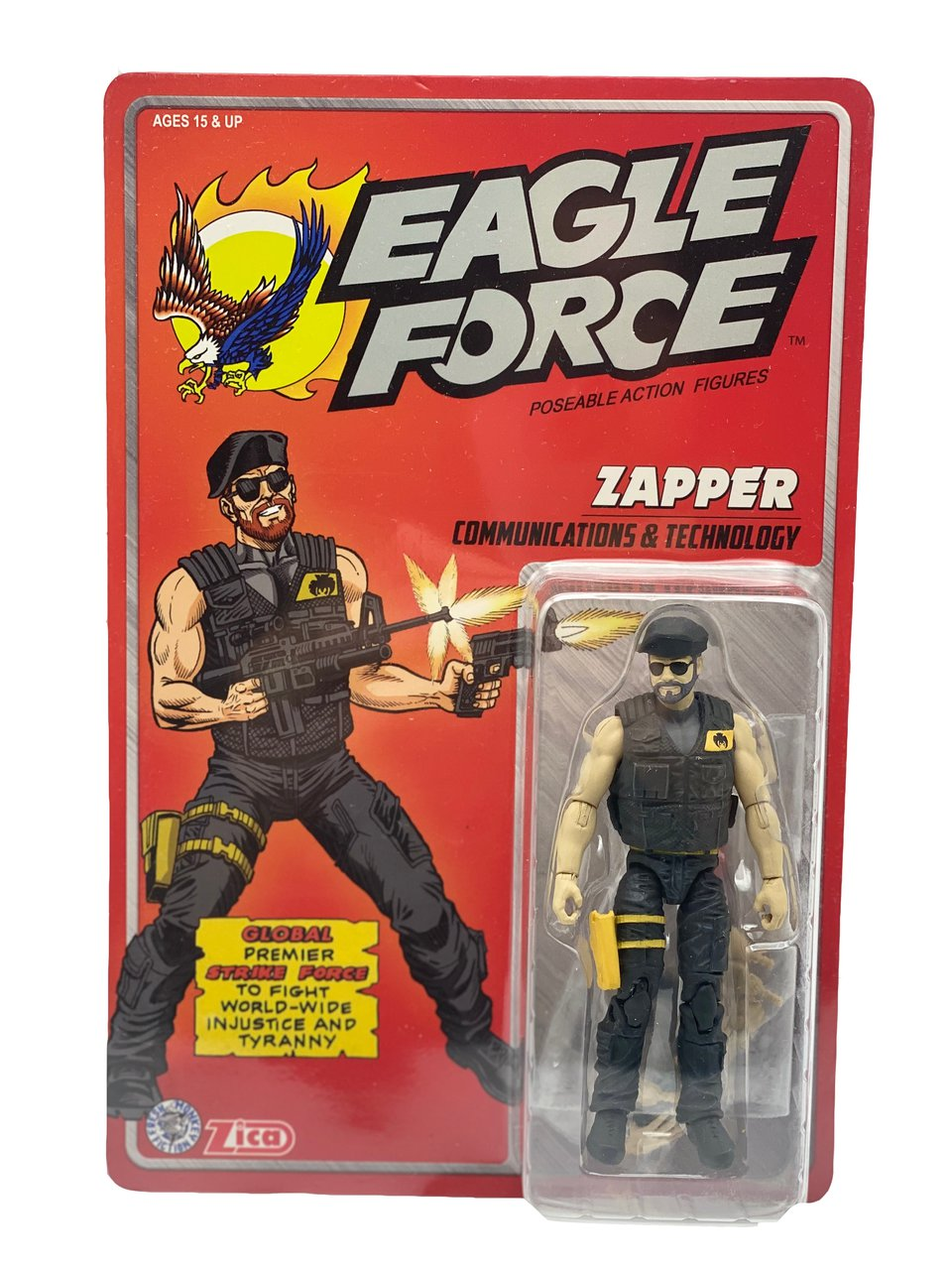 "Eagle Force 4"" Zapper Zica Toys Remco 1:18 Action Force 3.75 GI Joe"