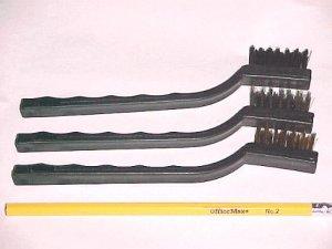 3 Different Bonsai Bark Brushes