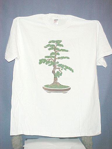 Large White Bonsai Tree T Shirt