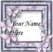 Ebay Store Logo Pink Gray Butterfly Border Dress Up your Ebay Store Add your Store Name!!