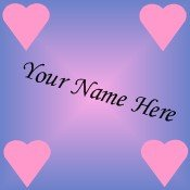 Ebay Store Logo Purple Pink Hearts Dress Up your Ebay Store Add your Store Name!!