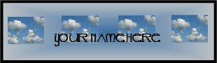Ebay Store Logo Blue Sky Clouds Dress Up your Ebay Store Add your Store Name!!