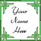 Ebay Store Logo Green Border Dress Up your Ebay Store Add your Store Name!!