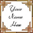 Ebay Store Logo Orange Border Dress Up your Ebay Store Add your Store Name!!