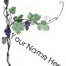 Ebay Store Logo Grape Vine Purple Green Dress Up your Ebay Store Add your Store Name!!