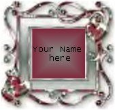 Ecrater Store Logo & HomePage Image Maroon Silver Border Dress Up your Ecrater Store Add your Name!