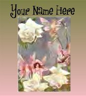 Ecrater Store Logo & HomePage Image Fairy Green Pink Dress Up your Ecrater Store Add your Name!