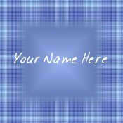 Ecrater Store Logo & HomePage Image Blue Plaid Dress Up your Ecrater Store Add your Name!