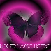 Ecrater Store Logo & HomePage Image Pink Butterfly Dress Up your Ecrater Store Add your Name!