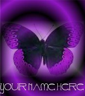Ecrater Store Logo & HomePage Image Purple Butterfly Dress Up your Ecrater Store Add your Name!