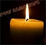Ecrater Store Logo & HomePage Image Orange Candle Flame Dress Up your Ecrater Store Add your Name!