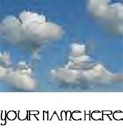 Ecrater Store Logo & HomePage Image Blue Sky Clouds Dress Up your Ecrater Store Add your Name!