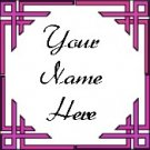 Ecrater Store Logo & HomePage Image Pink Border Dress Up your Ecrater Store Add your Name!