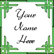 Ecrater Store Logo & HomePage Image Green Border Dress Up your Ecrater Store Add your Name!