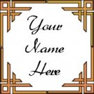 Ecrater Store Logo & HomePage Image Orange Border Dress Up your Ecrater Store Add your Name!