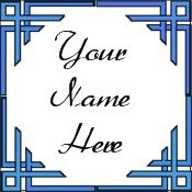 Ecrater Store Logo & HomePage Image Blue Border Dress Up your Ecrater Store Add your Name!