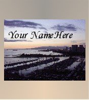 Ecrater Store Logo & HomePage Image Hawaii Skyline Sunset Dress Up your Ecrater Store Add your Name!