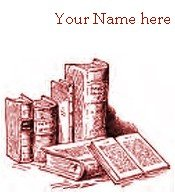 Ecrater Store Logo & HomePage Image Red Books Shelf Dress Up your Ecrater Store!!