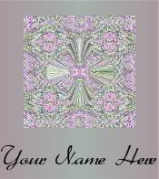 Ecrater Store Logo & HomePage Image Pink Green Cross Pattern Dress Up your Ecrater Store!!